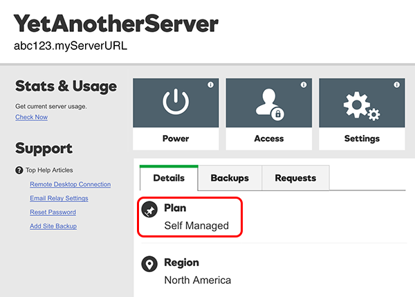 self managed server example