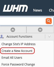 select create a new account
