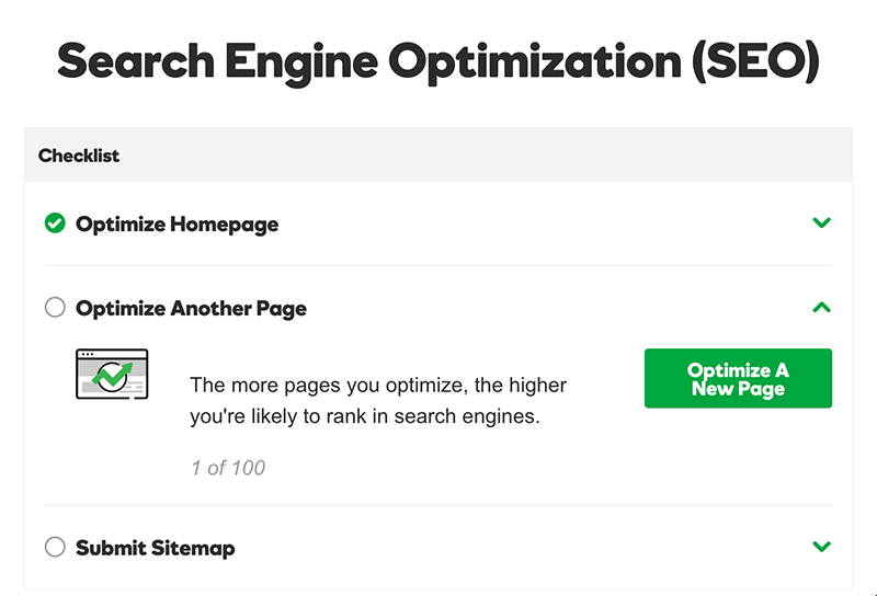 optimize homepage complete