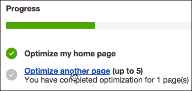 Click Optimize another page.