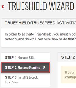 TrueShield Wizard Step 2