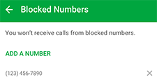 Blocked list