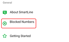 tap blocked numbers