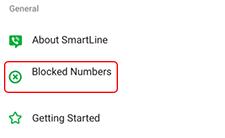 tap blocked numbers