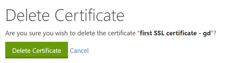 click delete confirm