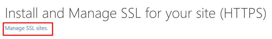 administrar ssl