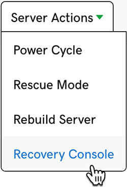 click Recovery Console