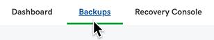 select backups
