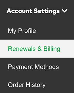 Accounts & Billing