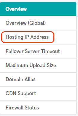 Hosting IP address