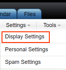 Settings menu with Display Settings below