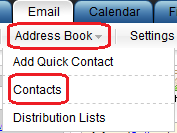 Select Contacts from the Address Book