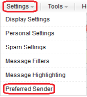 Select Preferred Sender