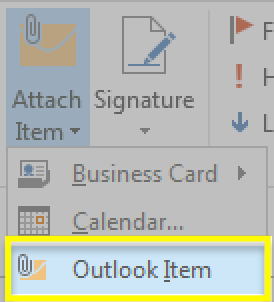 Wybierz element programu Outlook