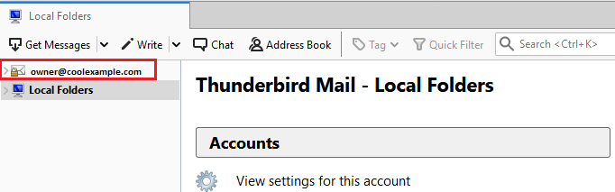 View email inbox on Thunderbird