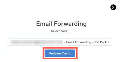 Click redeem credit button