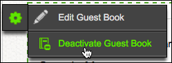 Click Deactivate Guest Book