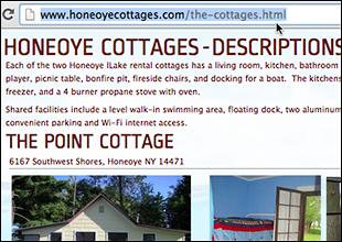 Copy web address of page that won't print