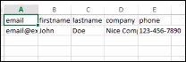 View of sample contact file