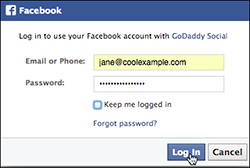 Log in to Facebook