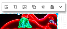 Click an image to display the image toolbar.