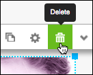 click trash can or delete button in image toolbar.