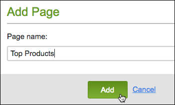 Name page and click add