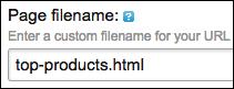 Filename should identify page content or purpose