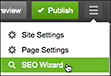 Click three-bar icon and choose SEO Wizard