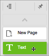 Click the Text tool and drag a text box onto the page