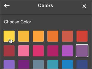 Klicken auf ein anderes Quadrat zum Ändern der Farbe