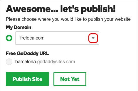 выберите неиспользуемый домен