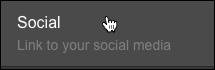「ソーシャル」をクリック