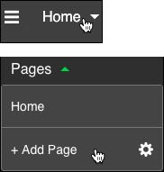 Click home then click add page