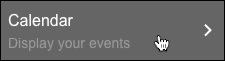 Haz clic en Calendario